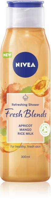Nivea Fresh Blends Apricot & Mango & Rice Milk osviežujúci sprchový gél 300ml