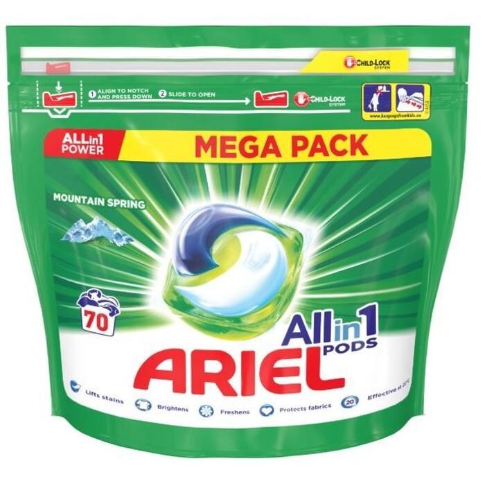 Ariel Allin1 Pods gélové kapsule do prania 70ks