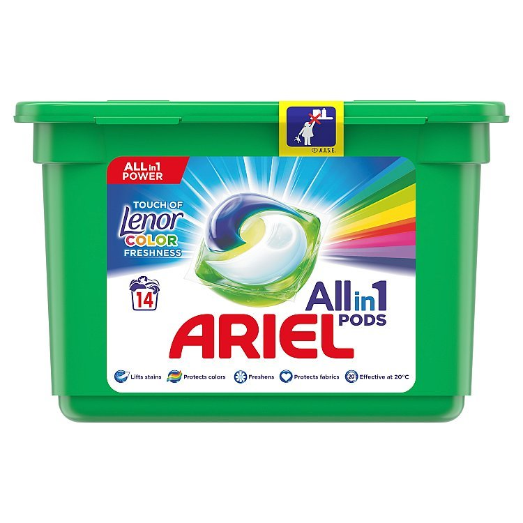 Ariel 3in1 Touch of Lenor Fresh gélové kapsule 13ks