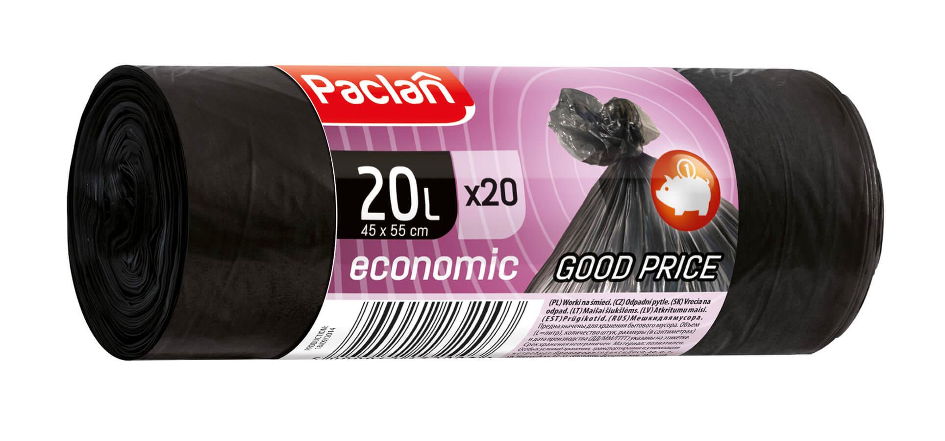 Paclan Economic vrecia na odpad 20l 20ks