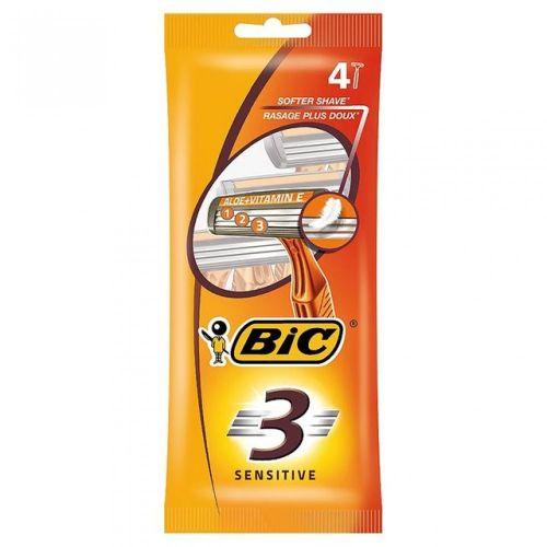 BIC 3 Sensitive jendorázové holiace strojčeky 4ks