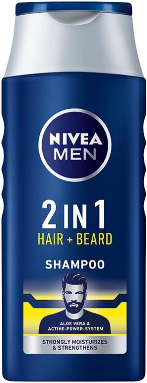 Nivea Men 2in1 Hair+Beard šampón na vlasy 400ml