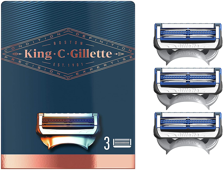 Gillette King náhradné hlavice 3 ks