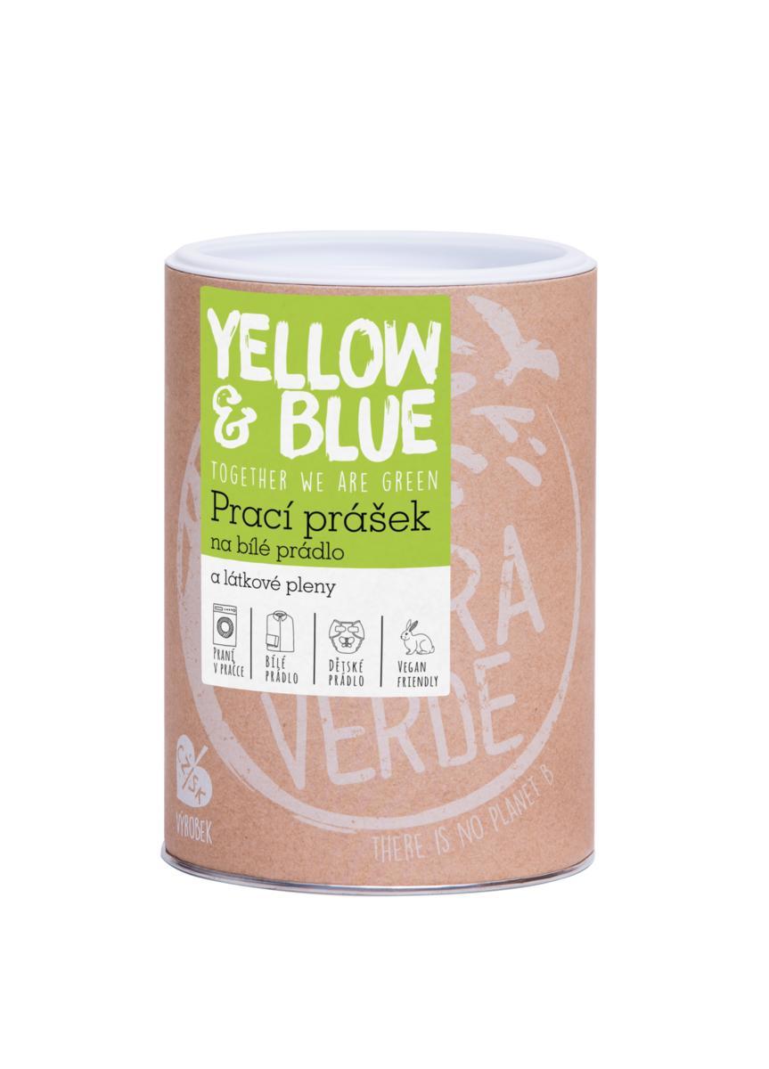 Yellow&Blue Prací prášok z mydlových orechov na bielu bielizeň a látkové plienky dóza 850g