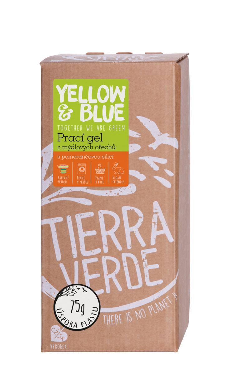 Yellow&Blue Prací gél z mydlových orechov s pomarančovou silicou bag-in-box 2l