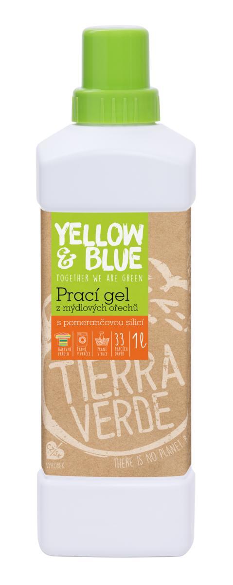 Yellow&Blue Prací gél z mydlových orechov s pomarančovou silicou 1l