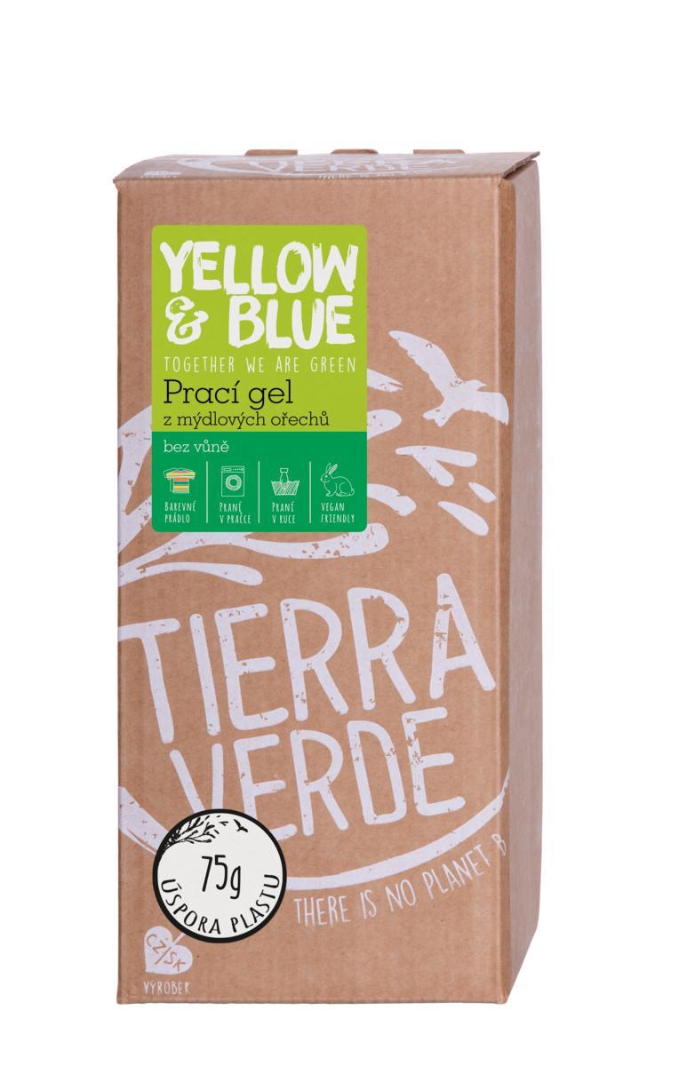 Yellow&Blue Prací gél z mydlových orechov bez vône bag-in-box 2l