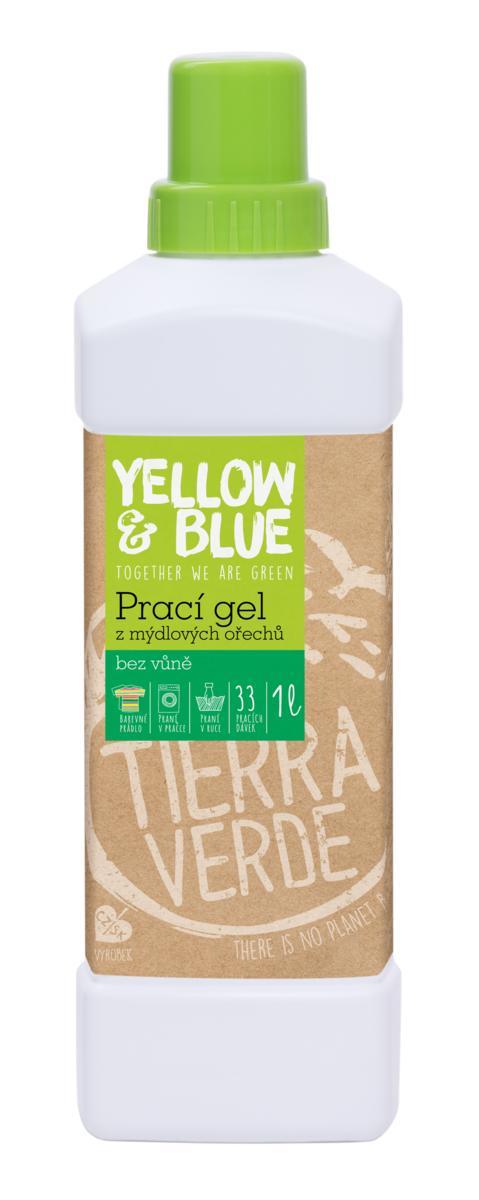 Yellow&Blue Prací gél z mydlových orechov bez vône 1l