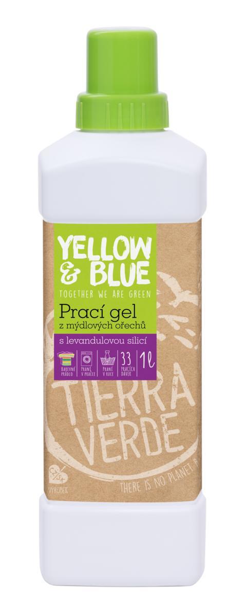 Yellow&Blue Prací gél z mydlových orechov s levanduľovou silicou 1l