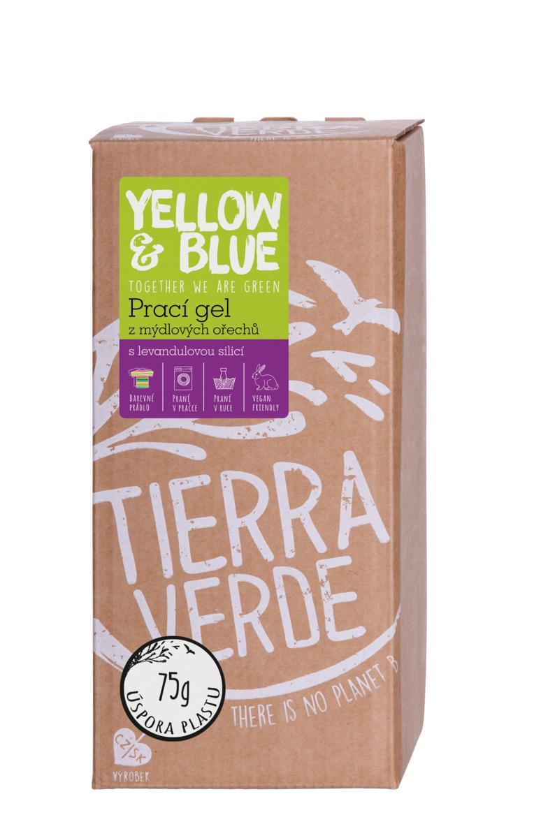 Yellow&Blue Prací gél z mydlových orechov s levanduľovou silicou bag-in-a-box 2l