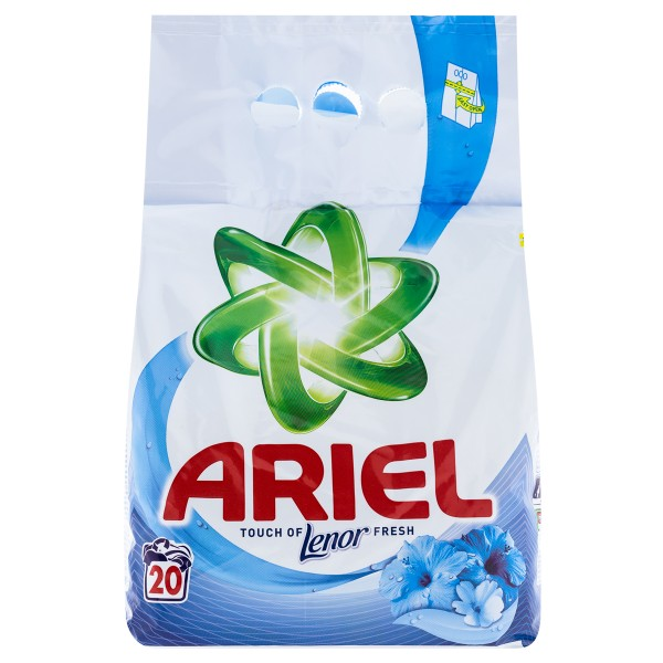 Ariel Touch of Lenor prášok na pranie 6kg