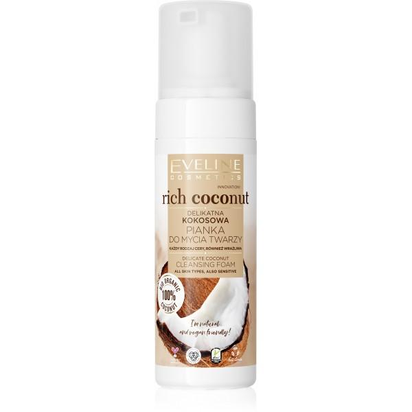 Eveline Cosmetics EVELINE Rich Coconut jemná kokosová čistiaca pena na tvár 150ml