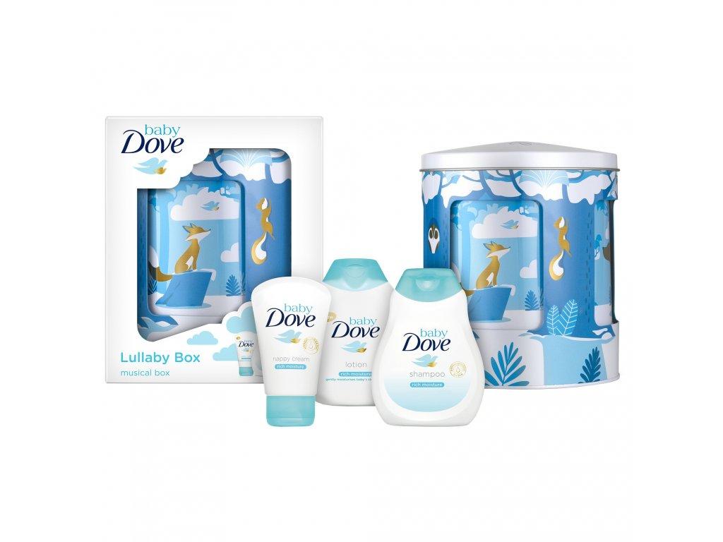 Baba Dove Baby Lullaby Music Box darčekový set