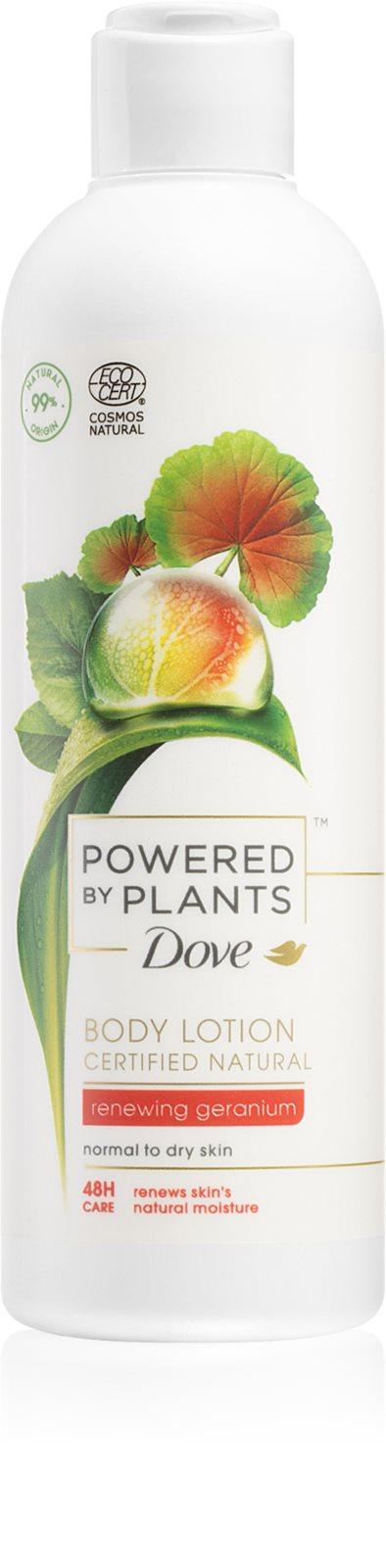 Dove Powered by Plants Geranium ošetrujúce telové mlieko 250ml