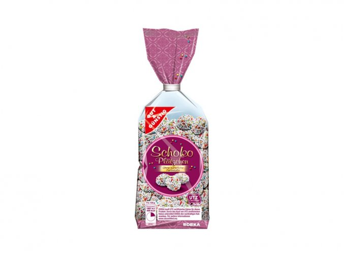 g g cokoladove kolacky s barevnymi perlami 200g