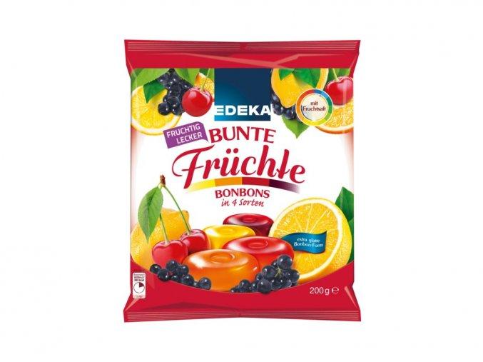 edeka pestre ovocne bonbony ve 4 variantach 200g