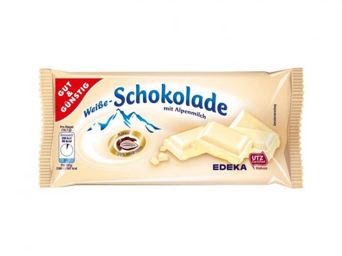 g g bila cokolada z alpskeho mleka 100g