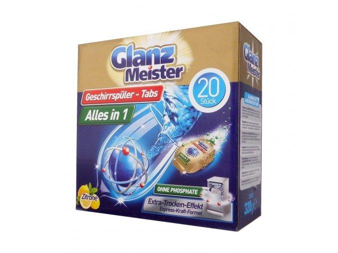 glanz meister tablety do mycky 20ks