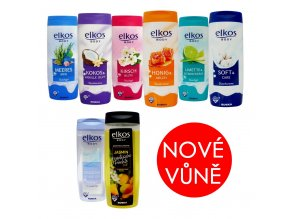 elkos body new sprchovy gel 300ml 8druhu nove vune