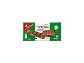 G G Mléčná čokoláda s celými lískovými ořechy 100g