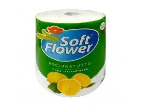 soft flower kuchynske uterky trivrstve citron 50m