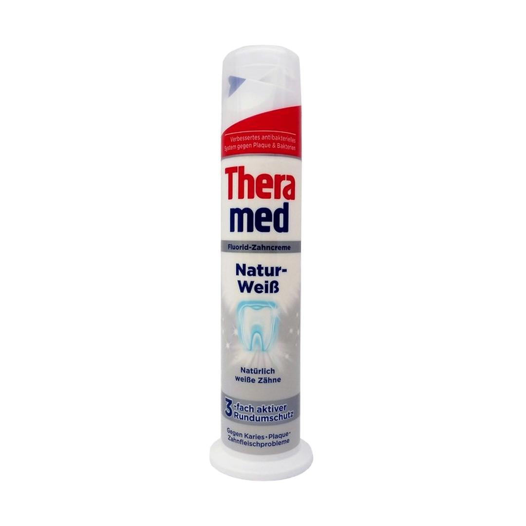 Levně Schwarzkopf & Henkel THERAMED Zubní pasta s aplikátorem 100ml Theramed typ: Complete Plus (červená) - pro kompletní ústní hygienu