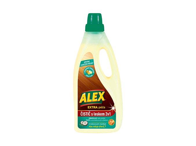 Alex Extra péče čistič s leskem 2v1, dřevěné, parketové podlahy