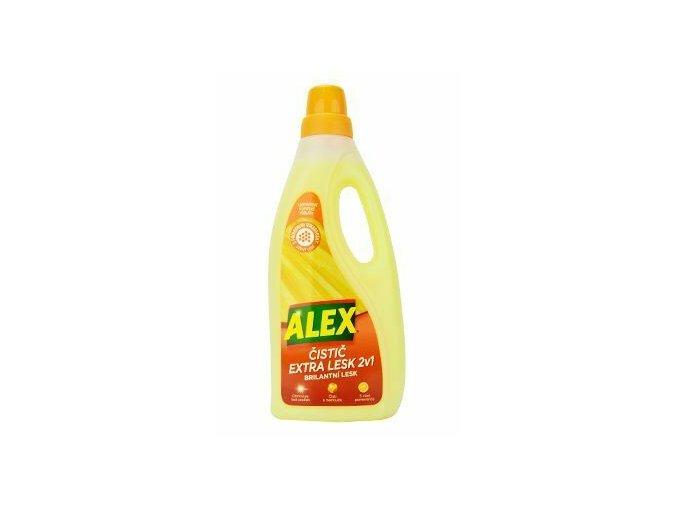Alex čistič extra lesk v brilantní lesk laminátové plovoucí podlahy