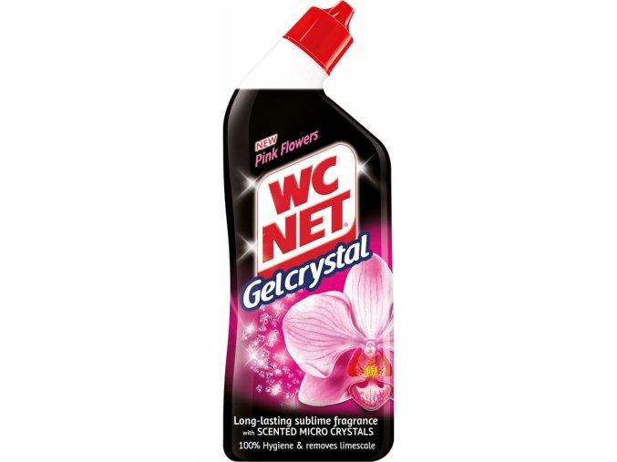 wc net crystal gel pink flowers 750ml