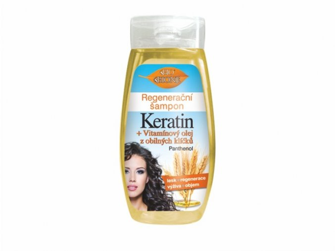 regeneracni sampon keratin vitaminovy olej z obilnych klicku 260 ml 965