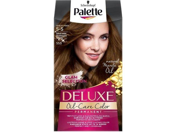 Schwarzkopf Palette Deluxe barva na vlasy Zářivě hnědý 555