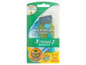 Wilkinson Sword Xtreme3 Sensitive 3 břitý flexibilní jednorázový holicí strojek 4 ks