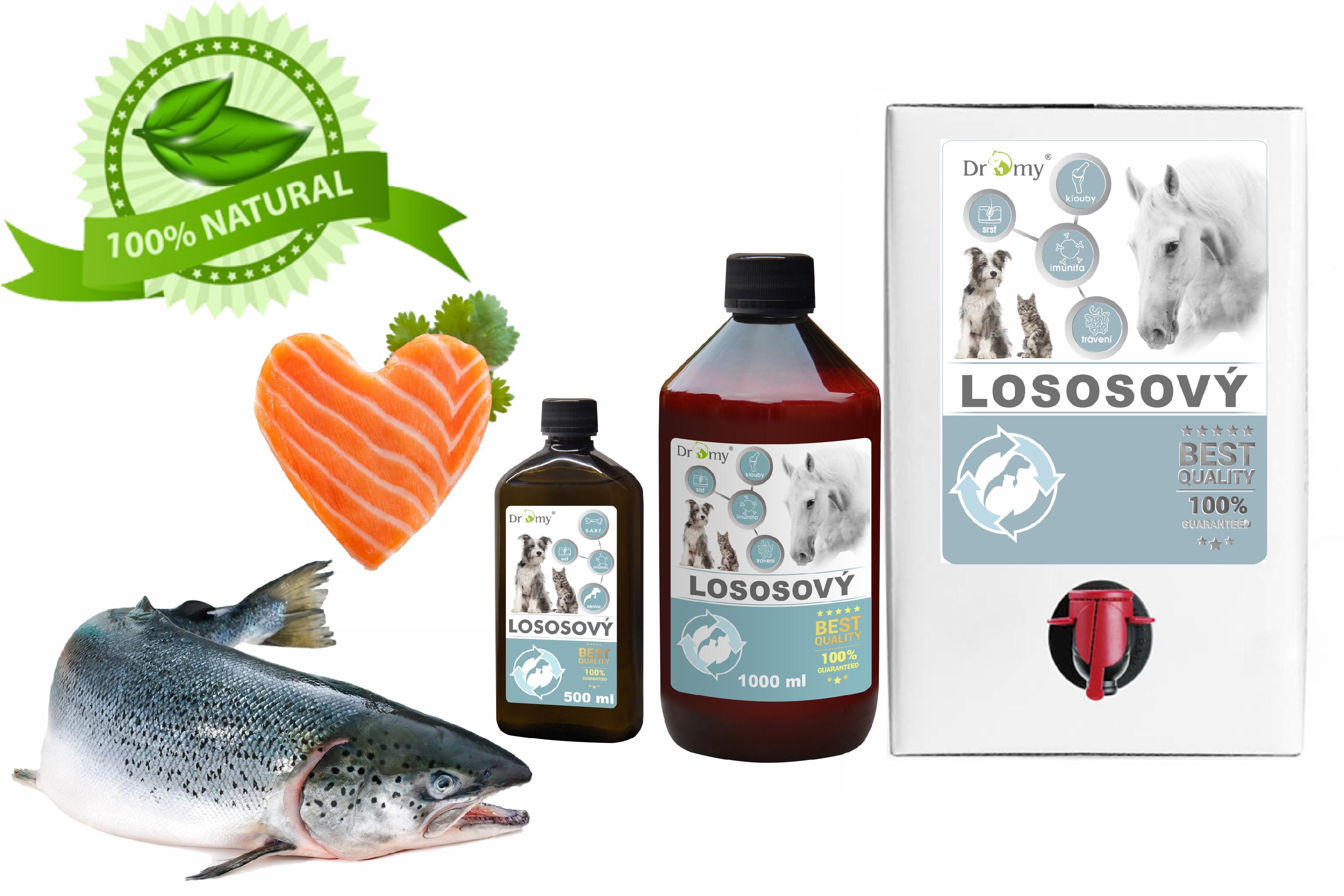 Dromy Lososový olej Premium 500 ml balení: 3000 ml