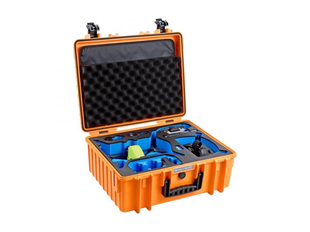 B&W Type 6000 - Kufor pre DJI FPV (Oranžový)