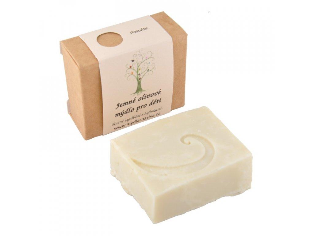 Jemné olivové mýdlo pro děti 1
