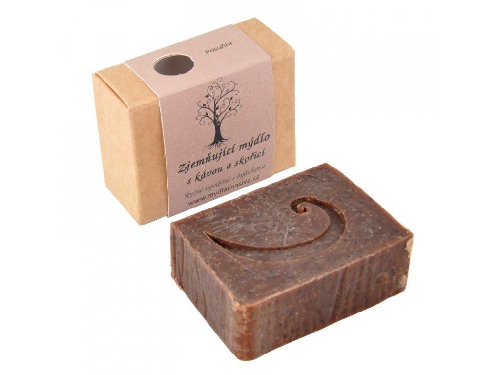 Zjemňující mýdlo s kávou a skořicí 1