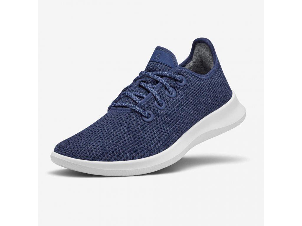 Pánská běžecká obuv s eukalyptem námořnická modrá 1