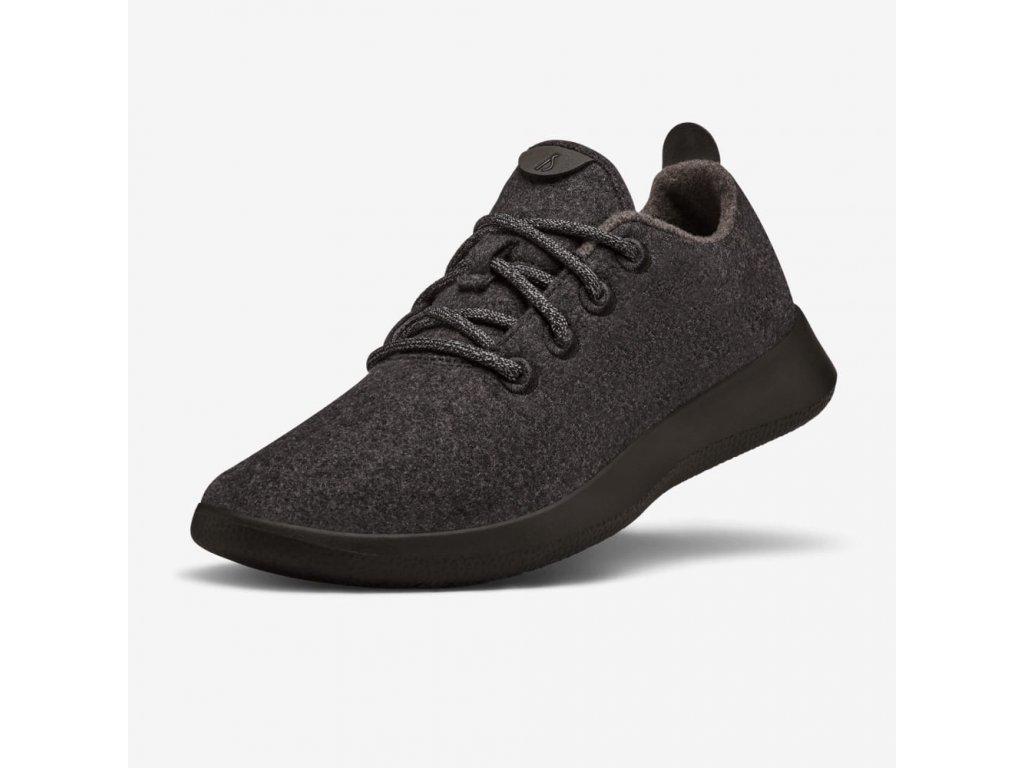 Dámská sportovní obuv z merino vlny přírodní černá 1
