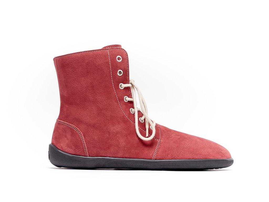 Barefoot kotníkové boty Be Lenka Winter – Wine