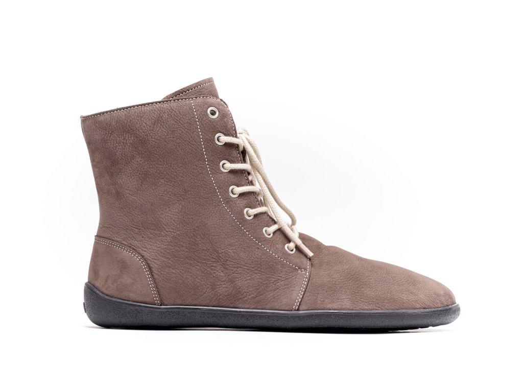 Barefoot kotníkové boty Be Lenka Winter – Chocolate