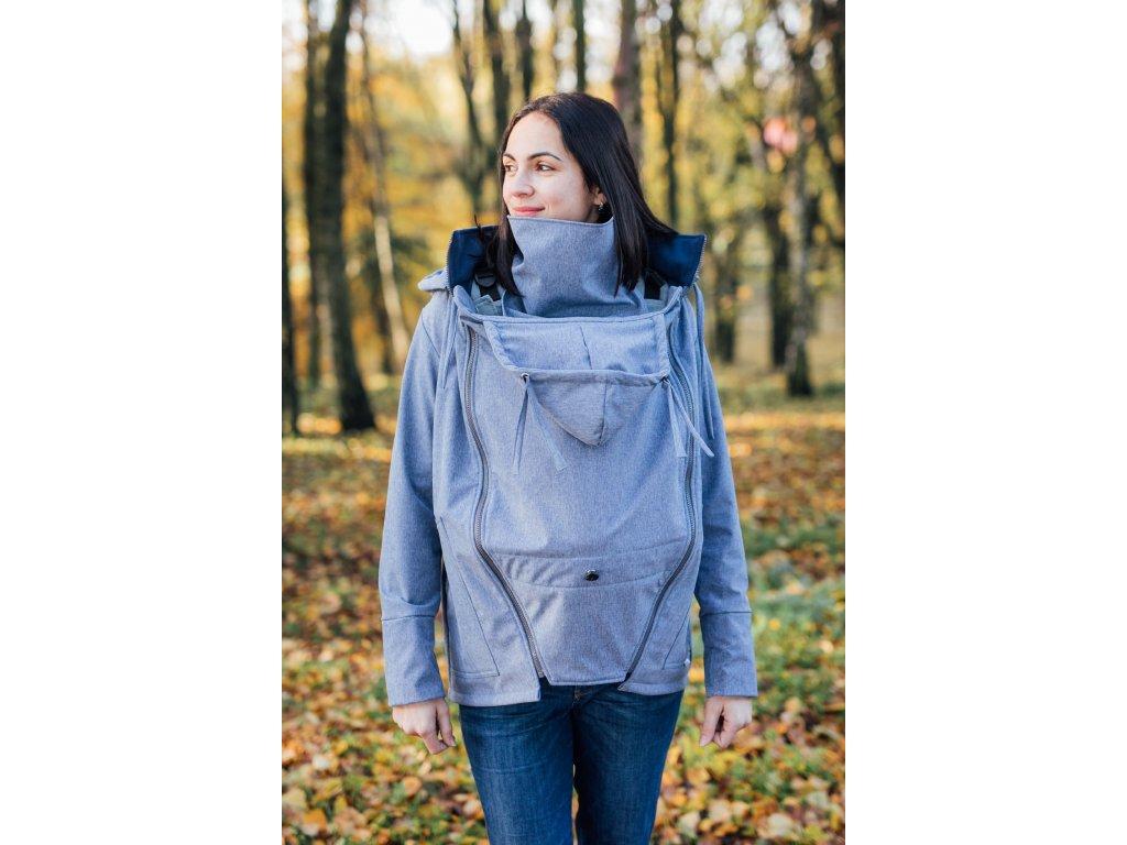 Softshellová bunda Be Lenka - Steel Blue