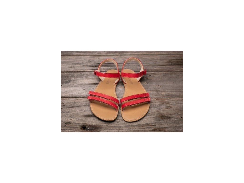 Barefoot sandály Summer červené 2