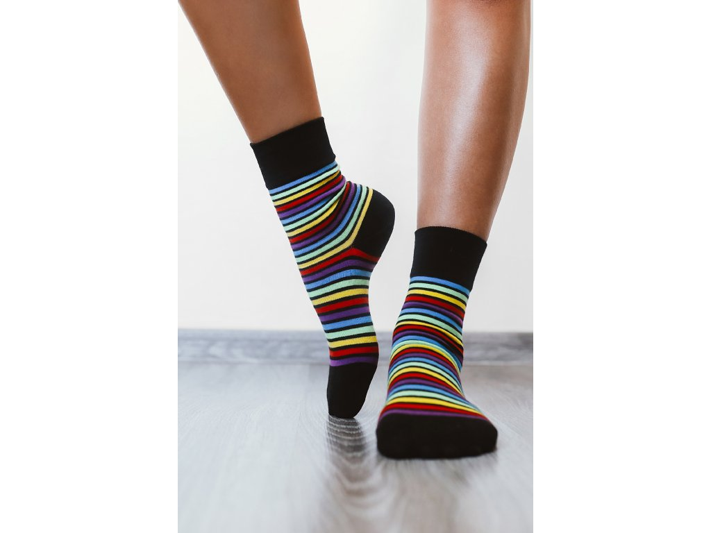 Barefoot ponožky - duhové