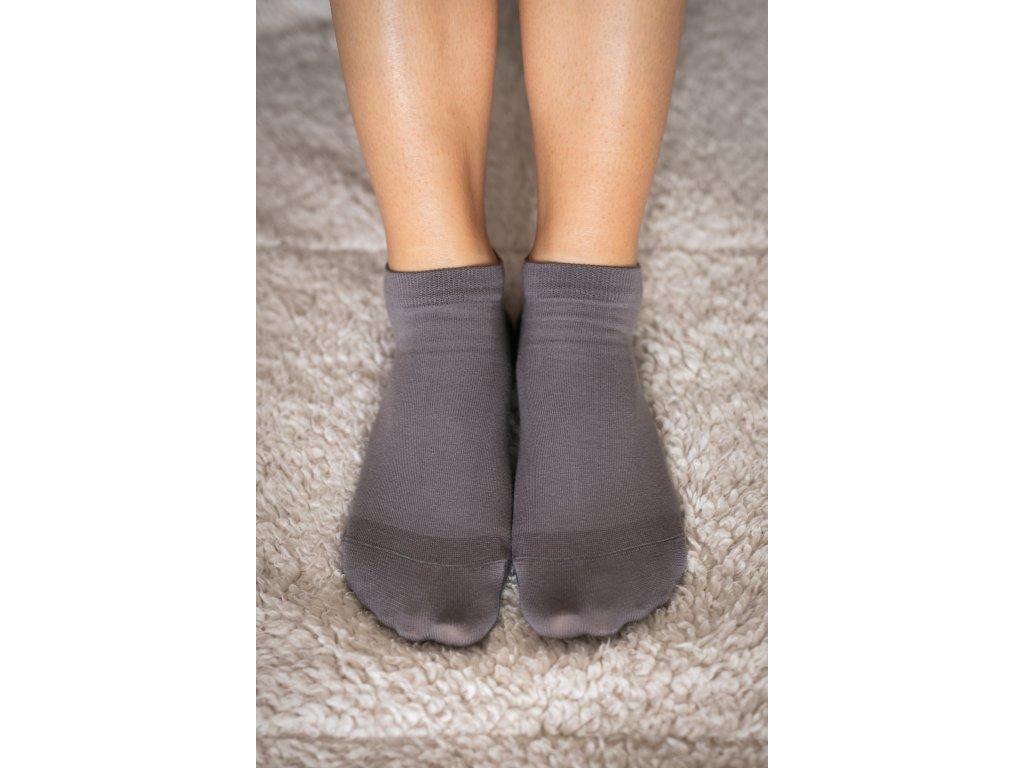 Barefoot ponožky krátké - šedé