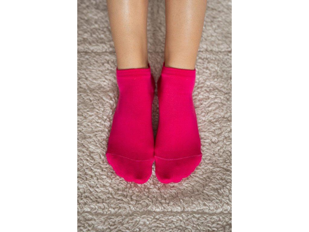 Barefoot ponožky krátké - růžové