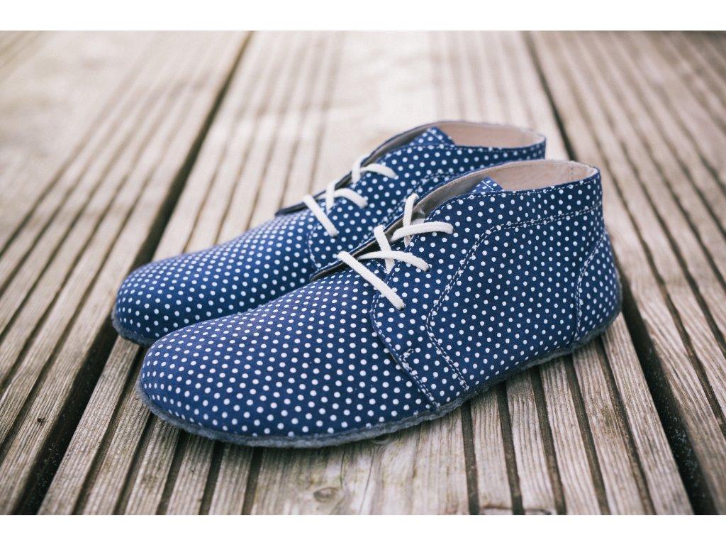 Barefoot Be Lenka Elegance celoroční - Dark Blue Dots