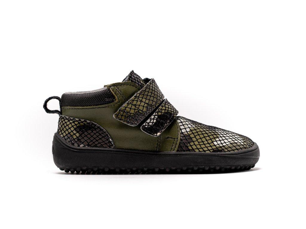 Dětské barefoot boty Be Lenka Play - Army