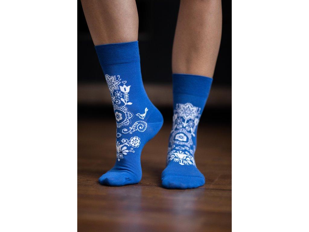 Barefoot ponožky Folk - modré