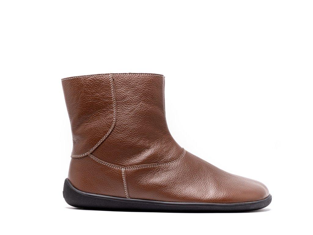 Barefoot kotníkové boty Be Lenka Polar – Brown