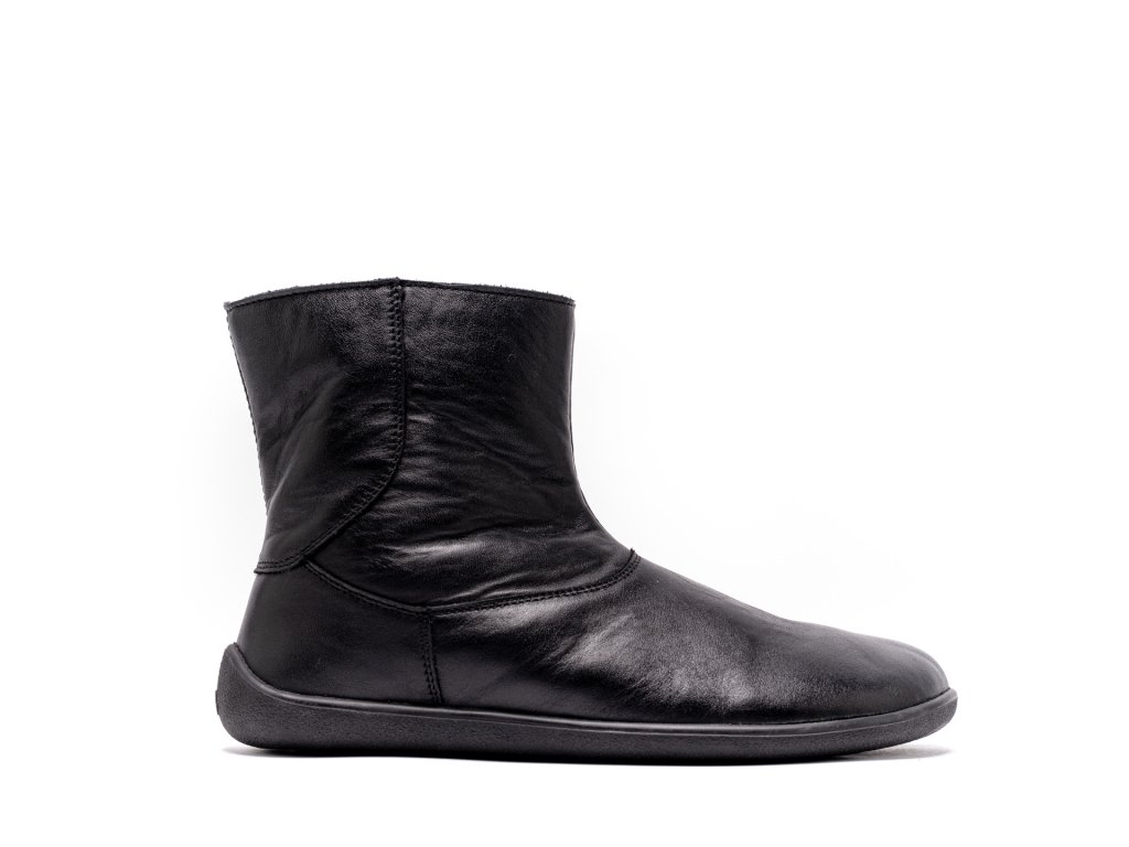 Barefoot kotníkové boty Be Lenka Polar – Black